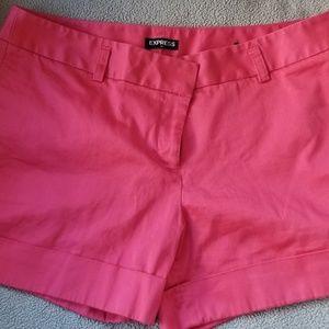 Women's Express Pink Cuffed Shorts